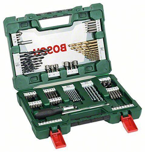 Bosch DIY 91tlg. V-Line Titanium-Bohrer Bit-Set mit Ratschen-Schraubendreher NEU