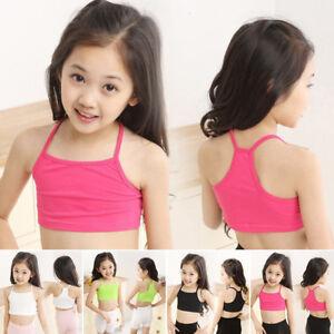 Kids-Girls-Camisole-Baby-Child-Sports-Dance-Tube-Crop-Tank-Tops-Vest-T-shirt