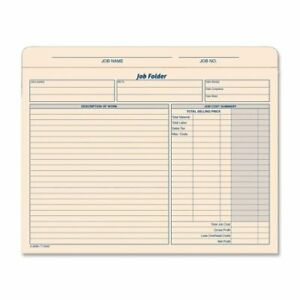 "TOP3440 Tops Job Folder File Jacket Letter 1 // Pack Manila 8.50/"" X 11/"""