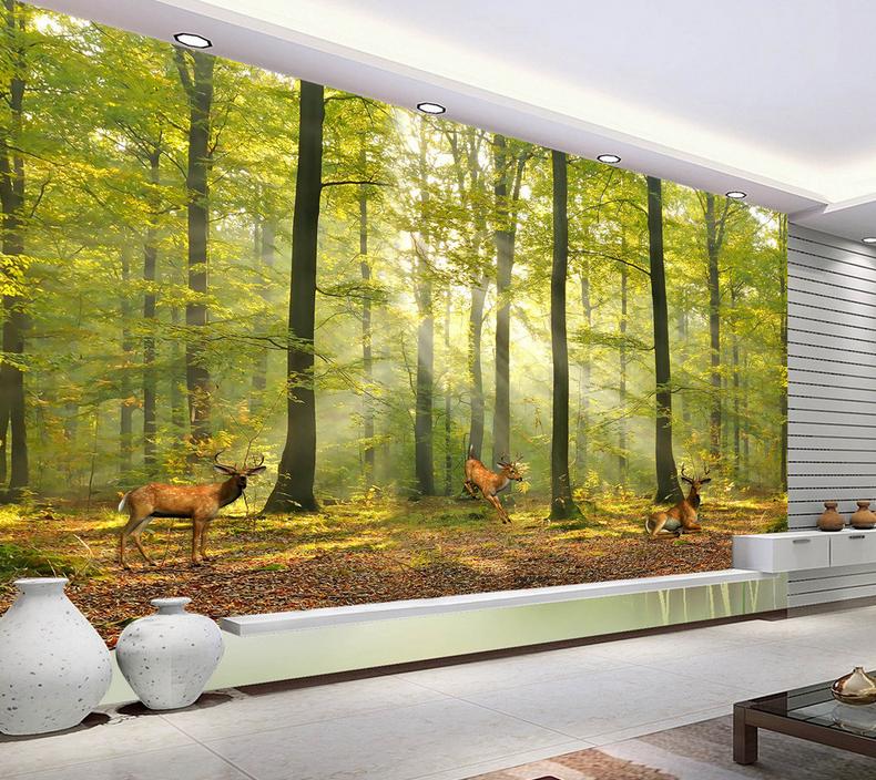 3D Wald Lauf Hirsche 85 Tapete Wandgemälde Tapete Tapeten Bild Familie DE Summer | Deutsche Outlets  | Praktisch Und Wirtschaftlich  | Sale Online