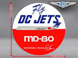 SAS SCANDINAVIAN LIVERY ROUND MD80 MD 80 FLY DC JETS DECAL / STICKER
