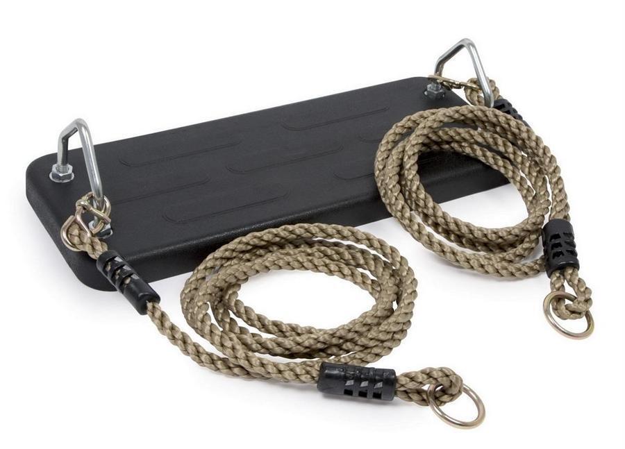 Luxus Schwerlast Solid Gummi Seil Swing Sitz mit Polyhemp Seile Außen- Baum