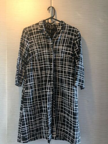 Marimekko linen coat dress 36 with pockets