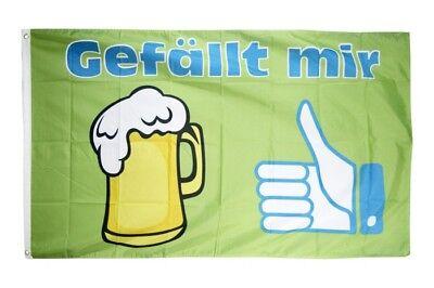 Fahne Bier statt Wasser Flagge Biertrinker Hissflagge 90x150cm