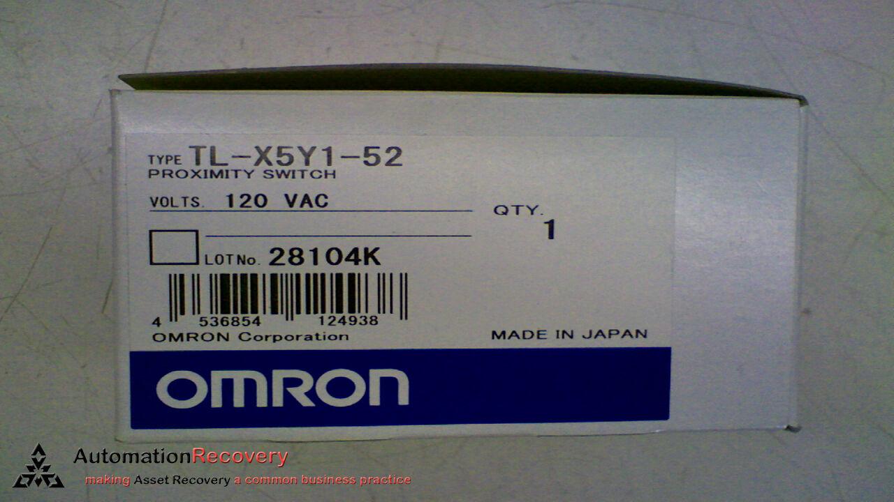 OMRON TL-X5Y1-52 PROXIMITY SWITCH 120 VAC, NEW