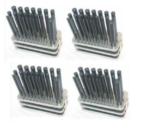"""4 SETS NEW 28 PCS TRANSFER PUNCH SET 3//32/""""-1//2/"""" BY 64th"""