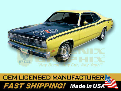 1972 Plymouth Duster w//Eyeballs COMPLETE Decals /& Stripes Kit Non-340