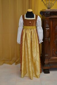 Costume-Teatrale-Abito-Storico-Abito-d-039-Epoca-Costume-Storico-Medioevo-cod-MB101