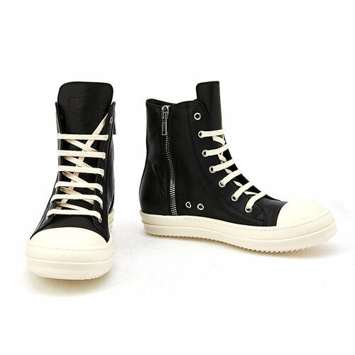 Rick Owens High-top Pelle  Uomo Shoes Size 6.5-9 / 17S 9890 LPO
