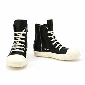 Rick OwensHigh Leather Sneaker QkvLi7g4uV