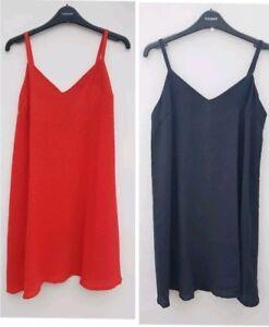 Ex-TopShop-MATERNITY-Dress-Vest-Sun-Long-Top-Black-Red-Sz-8-10-12-14-16-RRP-29