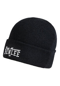Benlee-Rocky-Marciano-Black-Pull-Down-Beanie-Hat-Cap-with-Embroided-Logo