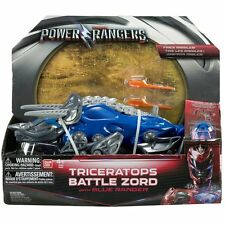 Power Rangers Movie Triceratops Battle Zord with Blue Ranger  *BRAND NEW*
