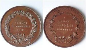 MEDAGLIONE-MEDAGLIA-NOMINATIVA-GIUSEPPE-BONELLI-TRAMVIA-A-VAPORE-1881-MEDAL
