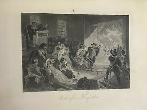 1882-Perils-Of-Our-Forefathers-Engraving-7-034-X-5-034-Early-American-Colonial