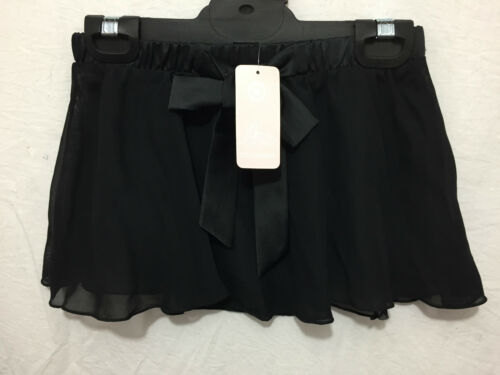 BNWT Girls Sz 12 Smart Black Target Dancewear Chiffon Elastic Waist Dance Skirt