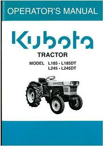 kubota tractor models l185 l185dt l245 l245dt operators manual ebay rh ebay co uk Kubota Tractor PTO Won't Engage Kubota L185DT Tractor with Loader