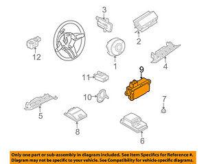 bmw oem 2005 z4 airbag air bag srs side impact sensor 65776961410 ebay rh ebay com