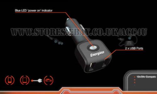 Energizer 12v 24v Auto IPHONE IPAD Doppel USB Ladebuchse Ladegerät 50507