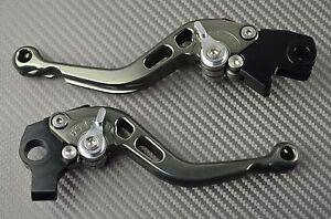 Short brake /& clutch levers CNC titanium Suzuki DL 1000 V-STROM VSTROM 2014-15