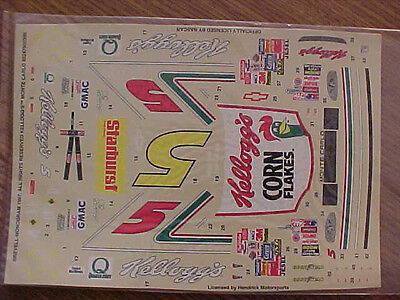 """1997 TERRY LABONTE #5 KELLOGGS /""""CORN FLAKES/"""" 1//24 SCALE  WATER SLIDE DECAL SHEET"""