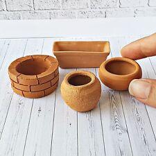 Terracotta Flower Clay Pots 10 Pots Dollhouse Miniature Garden Decor Supply DIY