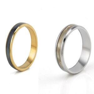 Fashion men 8mm titanium steel wedding band engagement for Mens gunmetal wedding rings