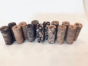 "Cork Rings 12 Wave Burl  #2 1 1//4/"" x 1//2/"" x 1//4/"" Hole"