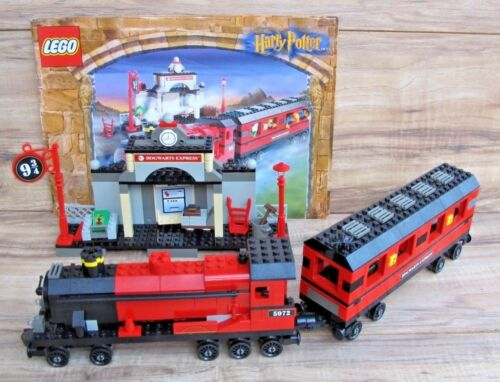 HARRY POTTER LEGO 4708 Hogwarts Express 2001 100% Complete + Manual EUC