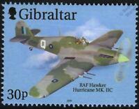 RAF HAWKER HURRICANE Mk.IIC Aircraft Airplane Stamp (2000 Gibraltar)