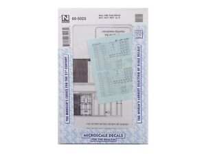 5277 Microscale Decal N #60-5024 Misc 5077 5347 cu.ft FMC Boxcar Data White