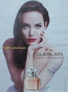 Publicite Mon Guerlain Parfum Angelina Jolie De 2018 French Ad Pub