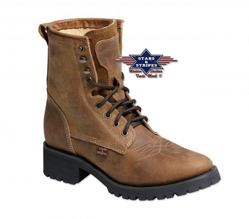 Westernstiefelette WB-34, Stars&Stripes, Stiefel, Cowboystiefel