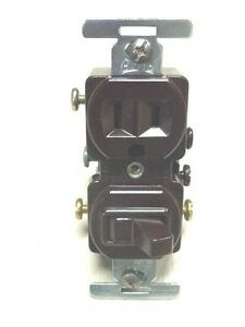 Eagle Quiet 3-Way Switch 2-Pole 293 Brown 3-Wire U-Grounding
