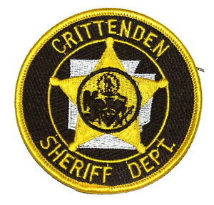 crittenden arkansas ar police sheriff patch state shape outline seal