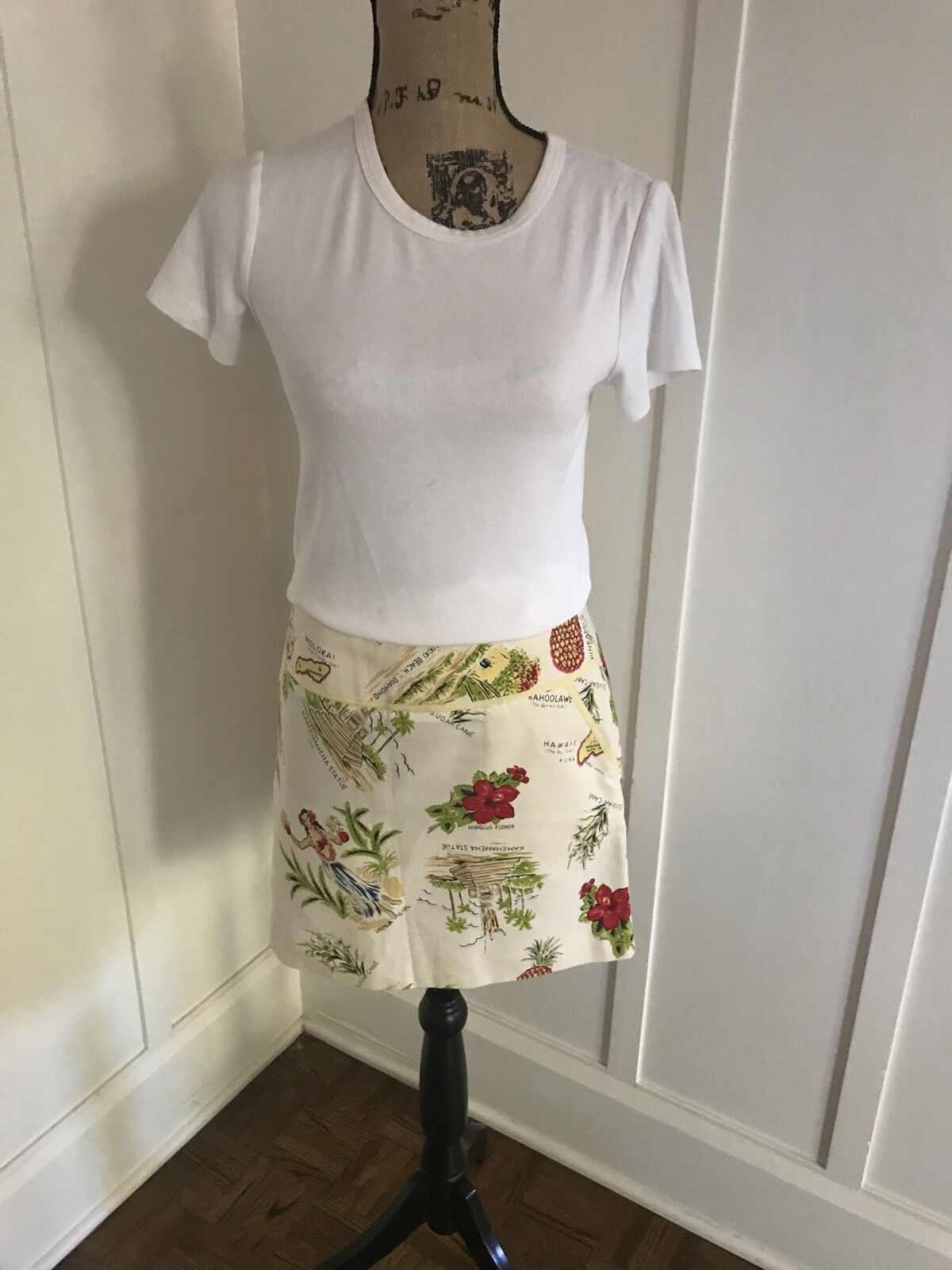 J Crew Hawaiian fun Mini Skirt Rare