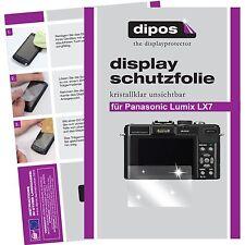 6x dipos Panasonic Lumix DMC LX7 klar Displayschutzfolie Crystalclear glänzend