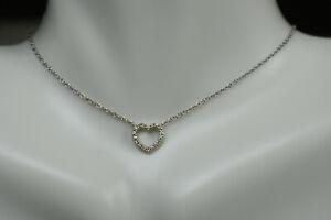 Tiffany-amp-Co-Metro-18K-White-Gold-Diamond-Heart-Pendant-16-034-with-Suede-Box