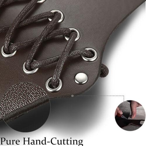 1pc Cuir Synthétique Gant Pour Hommes Femmes Bracelet Large Bracer bras armure Cuff
