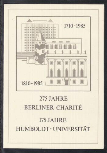 C 25 ) DDR 1985 First Day 275 years of Berlin Charite-175 years Humboldt Uni.