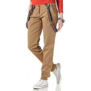 New M Stretch 36 80 Bretelle Brown 72 Pantaloni L L34 gr 40 Torce Women qz70wfxY