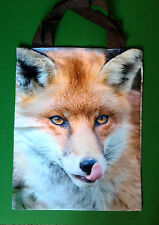 CHRISTMAS SHOPPING TOTE BAG - FOX DESIGN - 45CM X 35CM