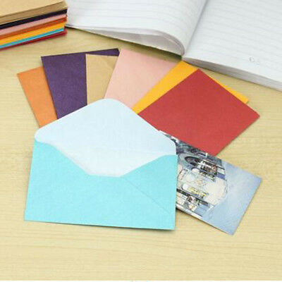 50pcs Vintage Blank Mini Paper Envelopes Wedding Invitation