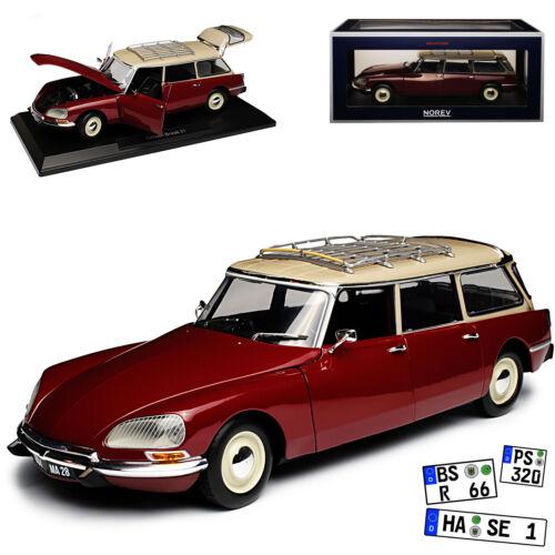 Citroen DS21 Break Estate Dark Red 1962-1972 1//18 Norev Model Car with or Oh
