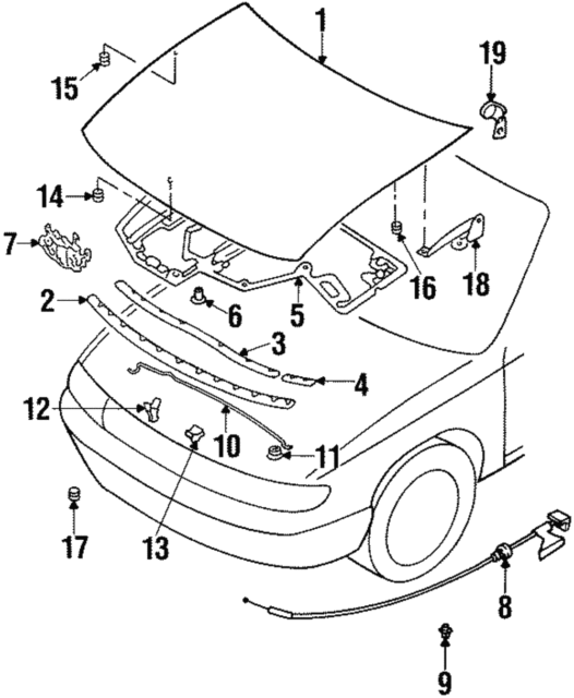nissan oem hood support rod retainer clip 6572201e00 for sale online 2003 Honda Civic Wiring Schematic genuine nissan support rod retainer clip 65722 01e00