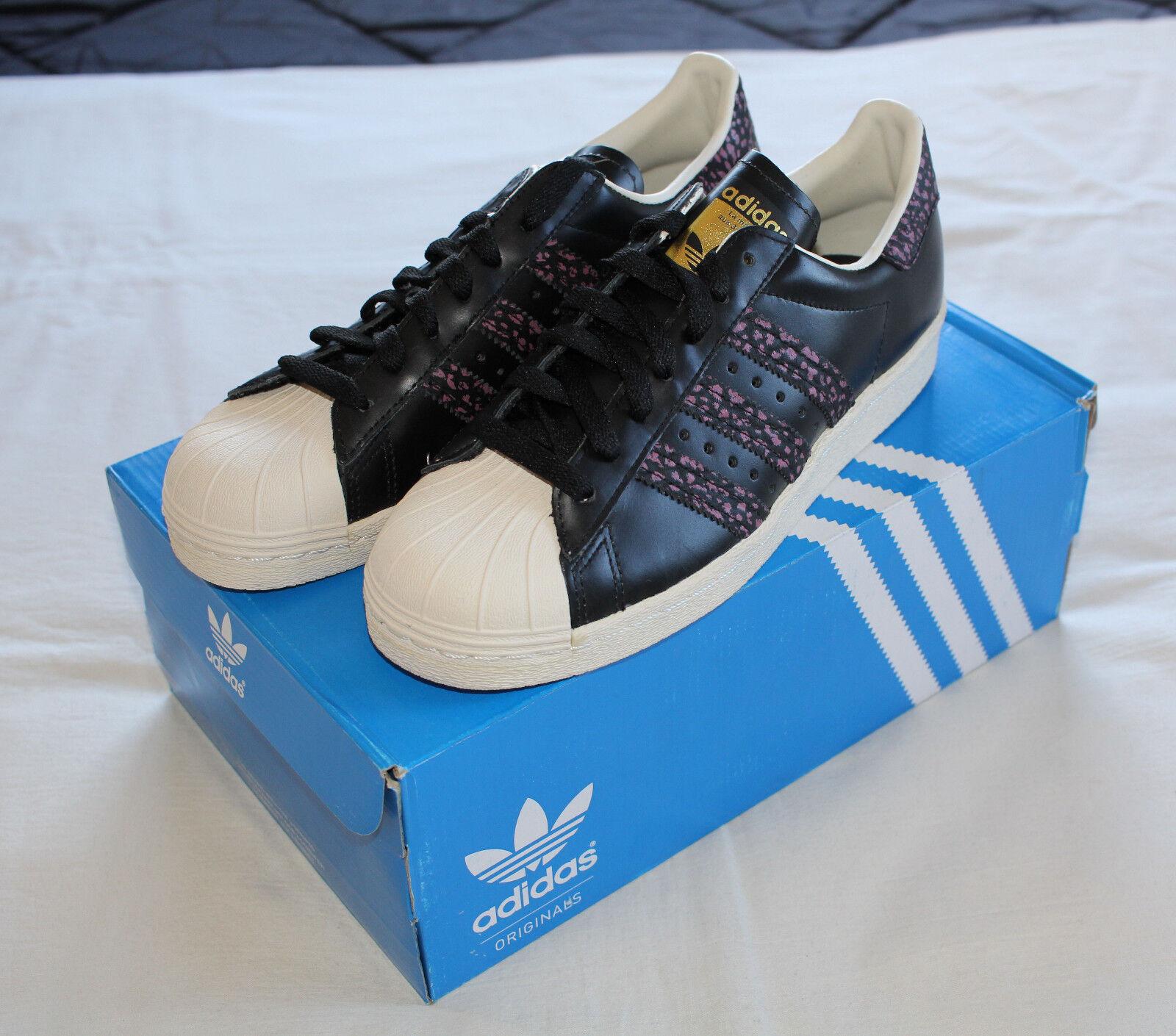 Adidas Originals S75846 Superstar 80s Black Pink White Trainers Mens Size US 6