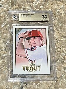 2018 Topps Gallery Mike Trout #100 Los Angeles Angels BGS 9.5 GEM MINT