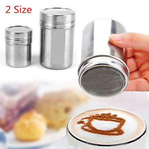 Stainless-Steel-Chocolate-Shaker-Icing-Sugar-Salt-Cocoa-Flour-Coffee-Sifter-HOT