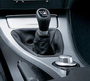 Bmw New Genuine E90 E91 E93 M Gear Shift Knob Gaiter Leather Black 6 Speed Lhd
