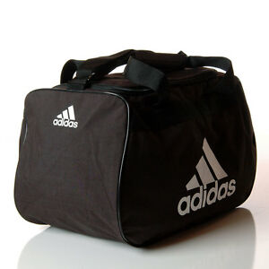 9889c46b8c Adidas Diablo Small Duffle Bag Black   White Workout Fitness Gym ...